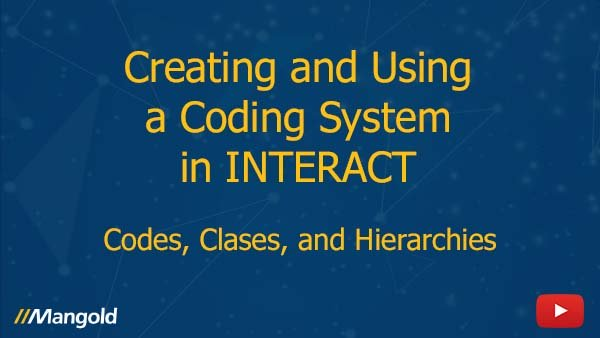 Video Tutorial: Creating and Using a Coding System in INTERACT