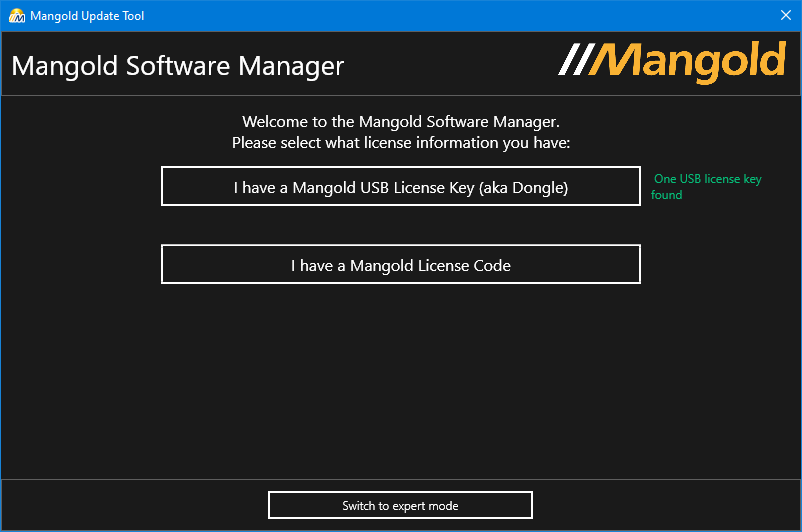 Mangold Software Manager