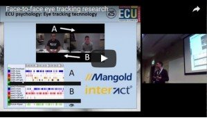 Vortrag über Face-to-face-Eye Tracking Studien