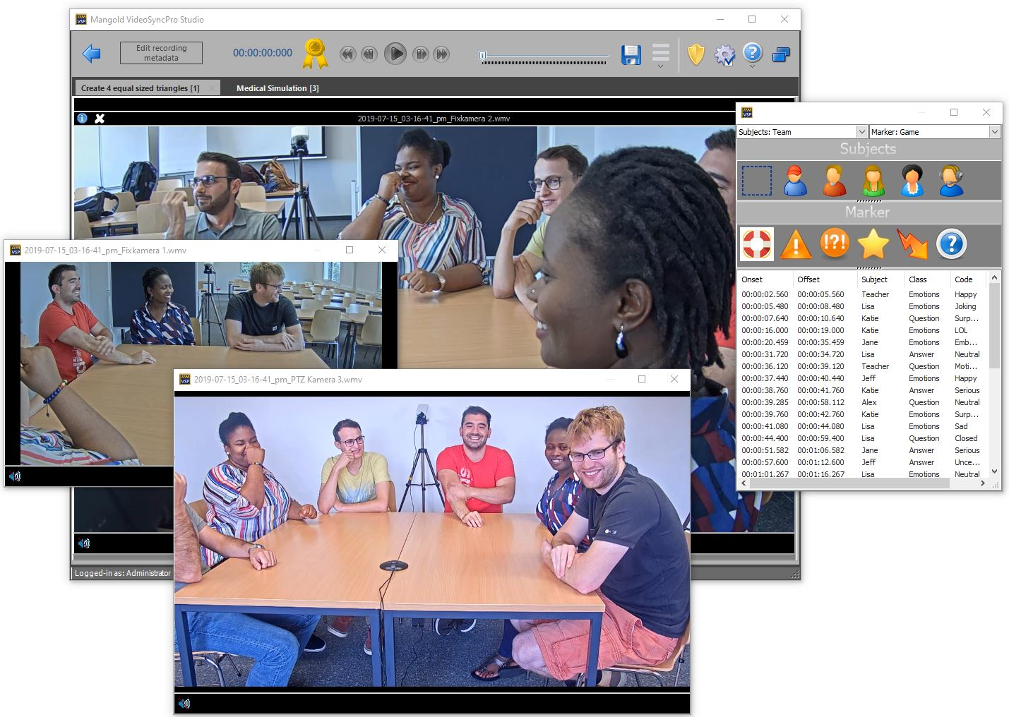 Mangold VideoSyncPro software in classroom observation