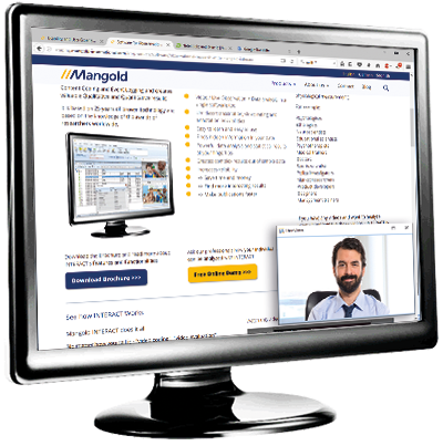 Screen with Mangold LogSquare Software