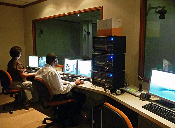 Usability Lab control room with adjacent participant room